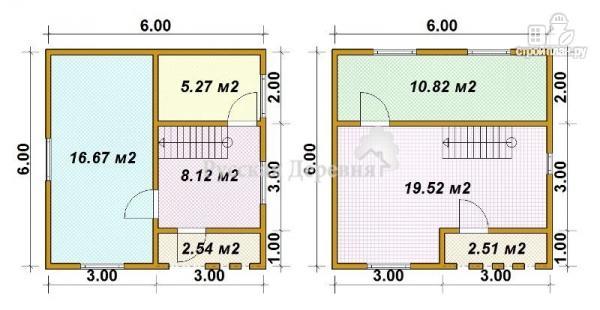 """Фото 5: проект дачный дом с крыльцом, балконом, мансардой и """"кукушкой"""""""