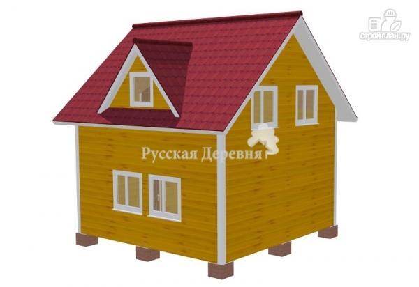 """Фото 2: проект дачный дом с крыльцом, балконом, мансардой и """"кукушкой"""""""
