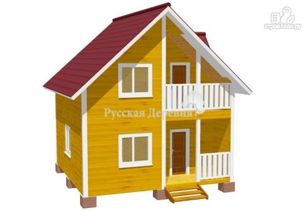 """Фото: проект дачный дом с крыльцом, балконом, мансардой и """"кукушкой"""""""