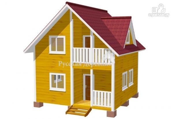 """Фото 3: проект дачный дом с крыльцом, балконом, мансардой и """"кукушкой"""""""