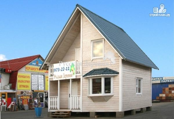 """Фото 4: проект дачный дом с крыльцом, балконом, мансардой и """"кукушкой"""""""