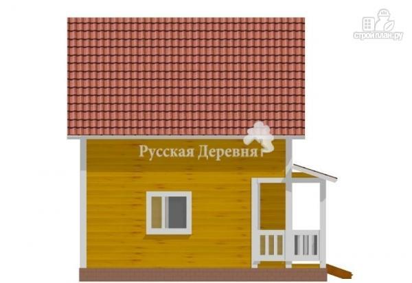 Фото 4: проект классический загородный дом 6х6 с крыльцом 3х2, полтора этажа в брусе