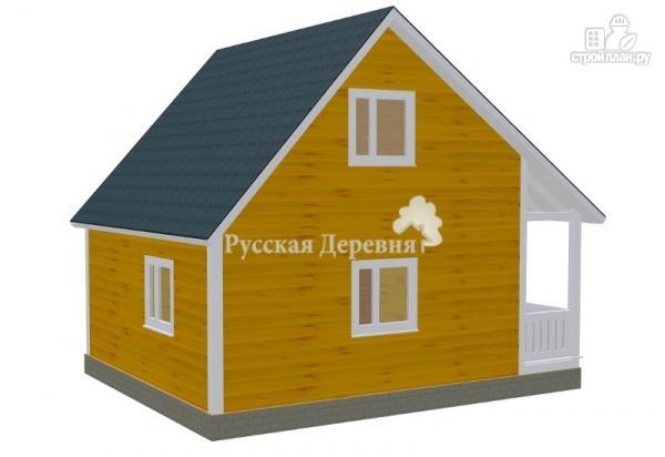 Фото 3: проект загородный домик с террасой