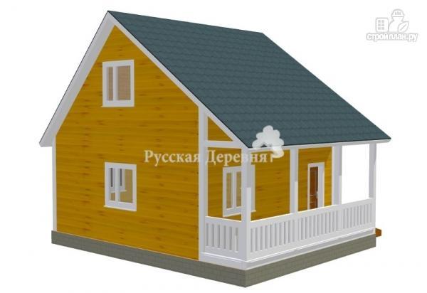 Фото 2: проект загородный домик с террасой