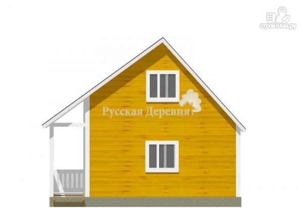 Фото 4: проект загородный домик с террасой