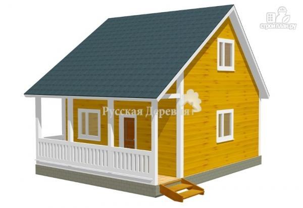 Фото: проект загородный домик с террасой