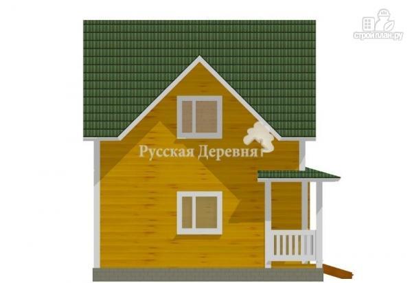 Фото 4: проект дом загородный трехфронтонный с крыльцом 3х1,5 и мансардой