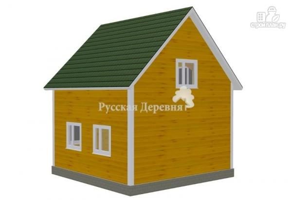 Фото 2: проект дом загородный трехфронтонный с крыльцом 3х1,5 и мансардой