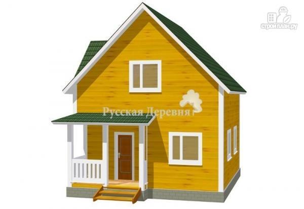 Фото: проект дом загородный трехфронтонный с крыльцом 3х1,5 и мансардой