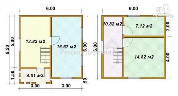 Фото 5: проект дом загородный трехфронтонный с крыльцом 3х1,5 и мансардой