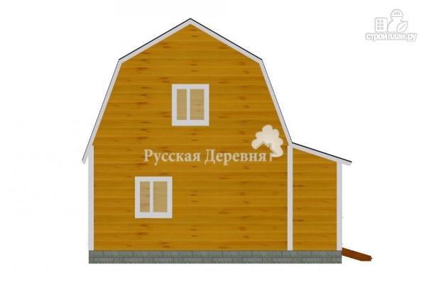 Фото 4: проект дом с террасой, сенями и мансардой