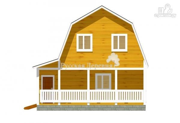 Фото 2: проект дом с террасой, сенями и мансардой