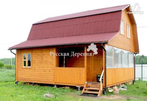Фото 6: проект дом с террасой, сенями и мансардой