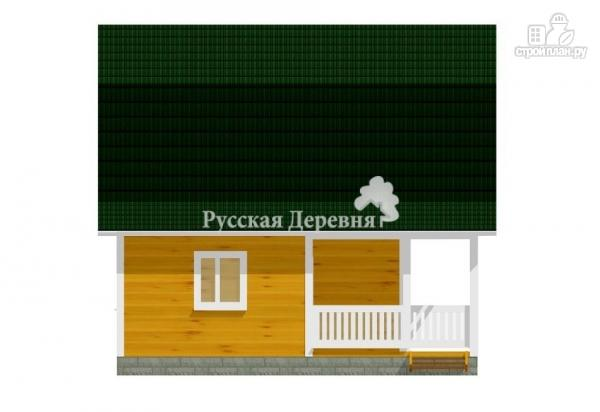 Фото 3: проект дом с террасой, сенями и мансардой
