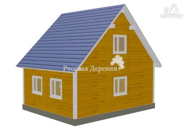 Фото 2: проект загородный дом с крылечком 1,5х2