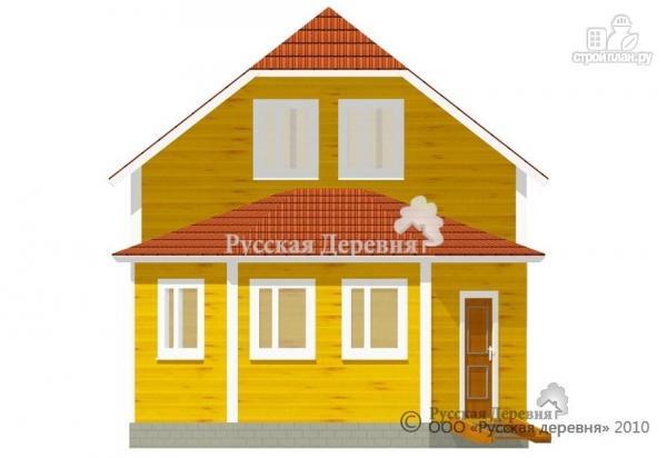 Фото 5: проект дом 6х6 с эркерной верандой 6х2,5 и брусовой мансардой