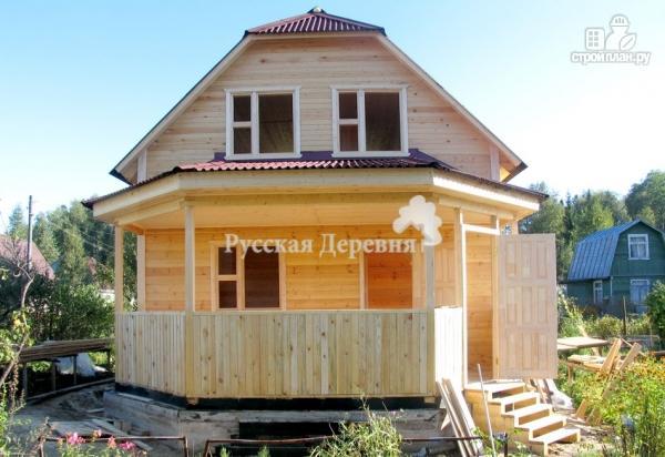 Фото 3: проект дачный дом с эркерной террасой 4.5х2.5 и крыльцом 1.5х2.5, брусовая мансарда