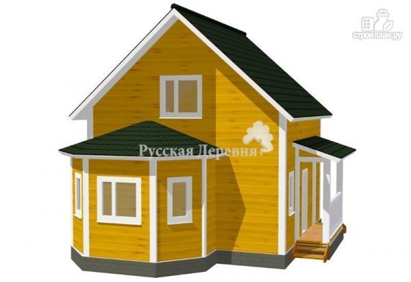 Фото: проект эркерный дом с крыльцом