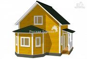 Фото: эркерный дом с крыльцом
