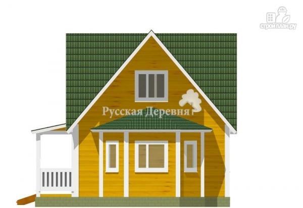 Фото 4: проект четырехфронтонный загородный дом 6х6 с эркером 4х2, крыльцом 1,5х4 и мансардой