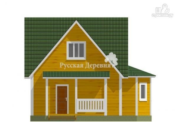 Фото 5: проект четырехфронтонный загородный дом 6х6 с эркером 4х2, крыльцом 1,5х4 и мансардой
