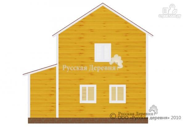 Фото 3: проект двухэтажный брусовой дом 6х6 с крыльцом 2х2