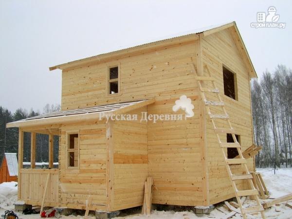Фото 6: проект двухэтажный брусовой дом 6х6 с крыльцом 2х2