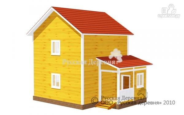 Фото: проект двухэтажный брусовой дом 6х6 с крыльцом 2х2