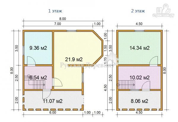 Фото 6: проект дачный дом с эркером, террасой, балконом и мансардой