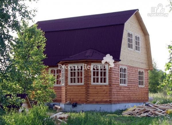 Фото 2: проект дачный дом с эркером, террасой, балконом и мансардой