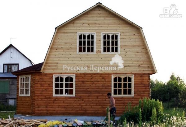 Фото 7: проект дачный дом с эркером, террасой, балконом и мансардой