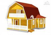 Фото: дачный дом с эркером, террасой, балконом и мансардой