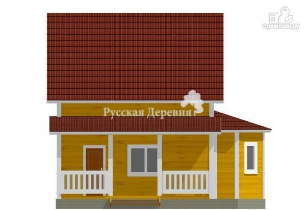 Фото 4: проект дом с террасой и эркером