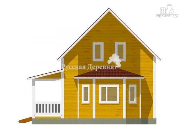 Фото 3: проект дом с террасой и эркером