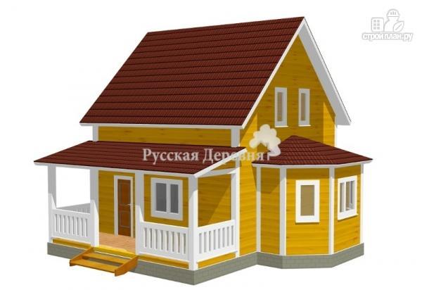 Фото: проект дом с террасой и эркером