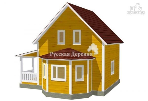 Фото 2: проект дом с террасой и эркером