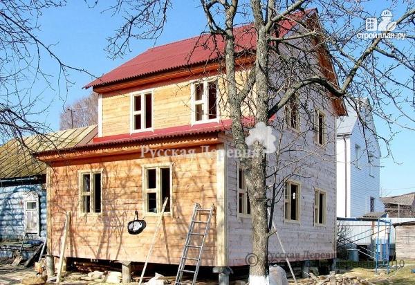 Фото 5: проект двухэтажный дом 6х6 с верандой 2х4,5 и крыльцом 2х1,5