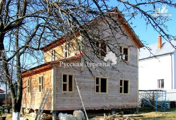 Фото 6: проект двухэтажный дом 6х6 с верандой 2х4,5 и крыльцом 2х1,5