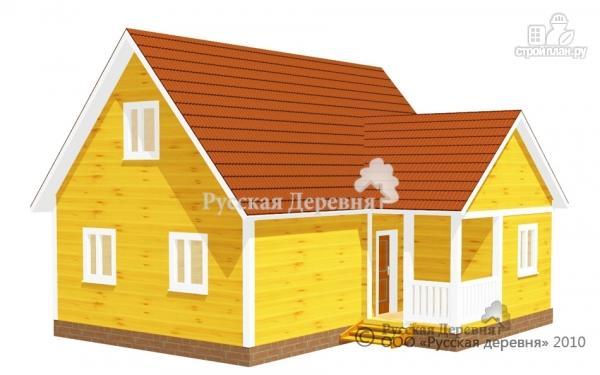 Фото: проект дом с крыльцом 2х2.5, мансарда
