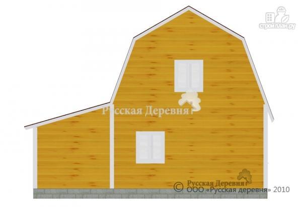 Фото 4: проект четырехкомнатный мансардный дом с верандой 3х5,5 и крыльцом 3х1,5