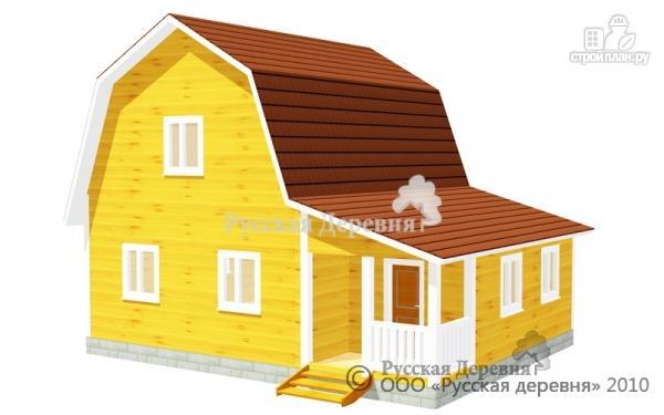 Фото: проект четырехкомнатный мансардный дом с верандой 3х5,5 и крыльцом 3х1,5