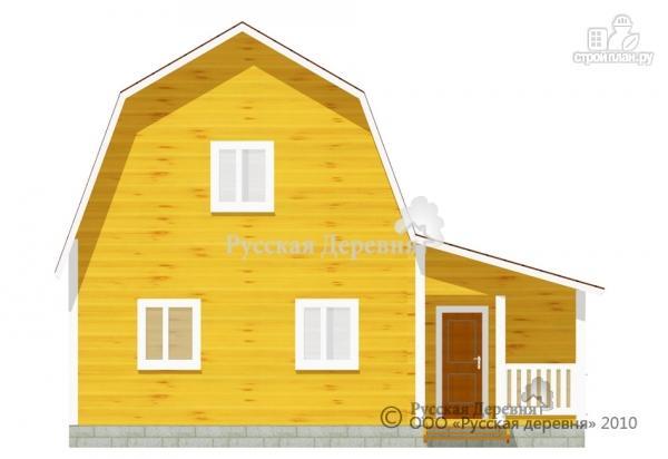 Фото 2: проект четырехкомнатный мансардный дом с верандой 3х5,5 и крыльцом 3х1,5