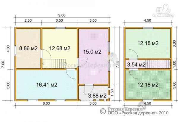 Фото 6: проект четырехкомнатный мансардный дом с верандой 3х5,5 и крыльцом 3х1,5
