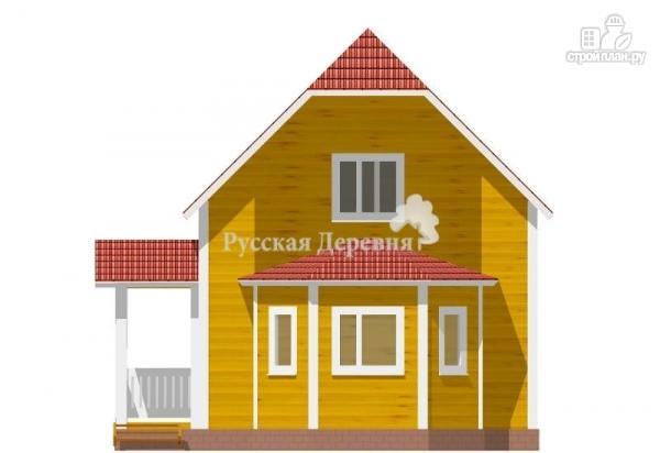 Фото 3: проект дом с крыльцом и эркером