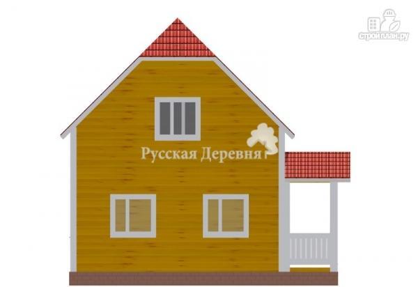 Фото 5: проект дом с крыльцом и эркером