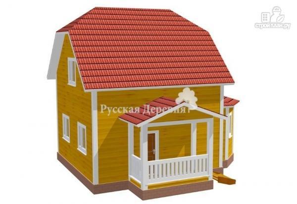 Фото 2: проект дом с крыльцом и эркером
