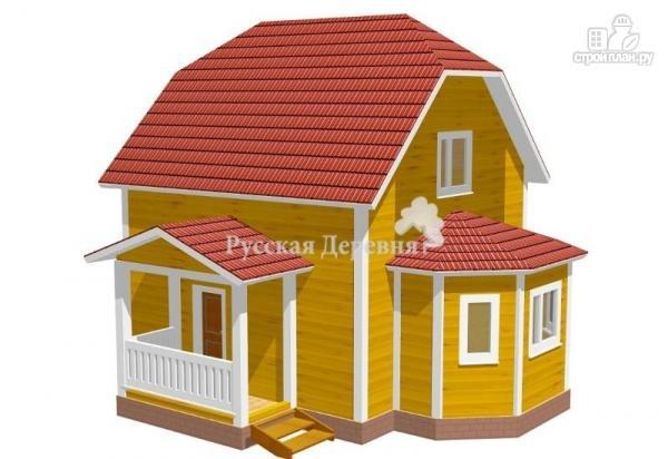 Фото: проект дом с крыльцом и эркером