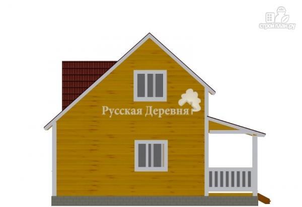 "Фото 5: проект дом 6х6 с террасой 2х6, мансардой и ""кукушкой"""