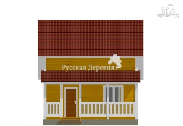 "Фото 4: проект дом 6х6 с террасой 2х6, мансардой и ""кукушкой"""