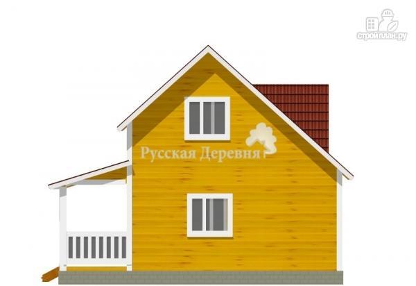 "Фото 3: проект дом 6х6 с террасой 2х6, мансардой и ""кукушкой"""